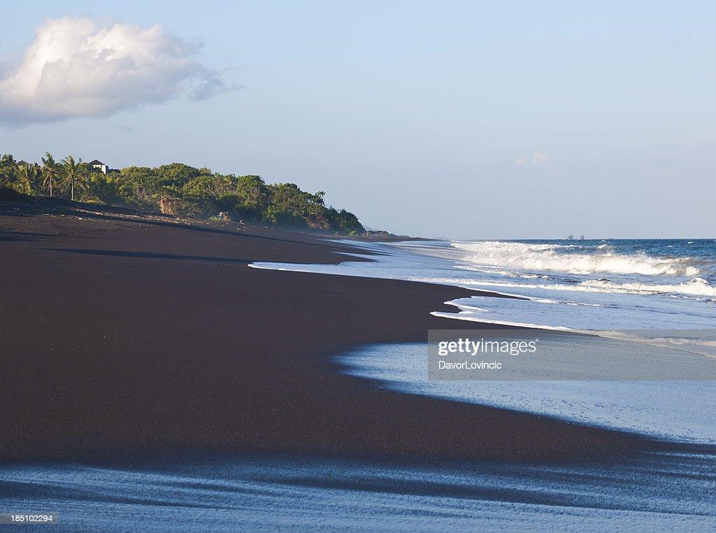 Black sand beach : Stock Photo