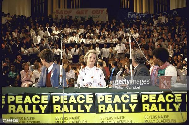 Black Sash activist Molly Blackburn at peace rally