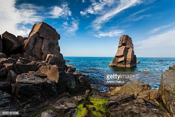 Black Sea coast near Sozopol, Bulgaria.