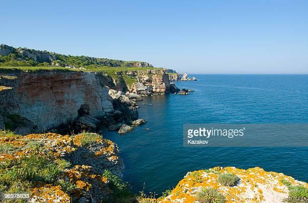 Black Sea shore near Kamen Bryag vllage, Bulgaria.