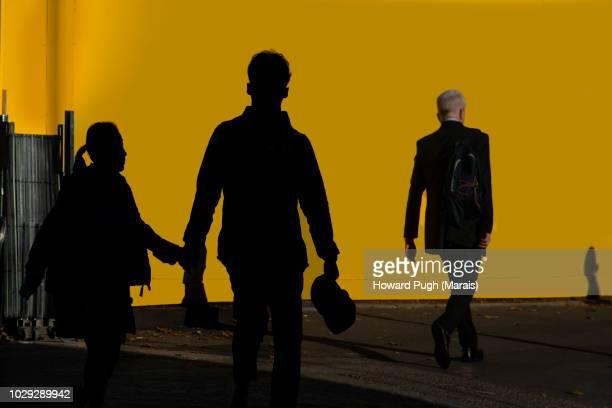 Black Shadows Yellow Street Background