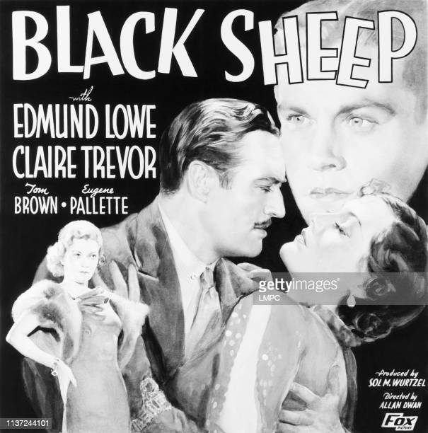 Black Sheep poster US poster from left Claire Trevor Edmund Lowe Adrienne Ames Tom Brown 1935