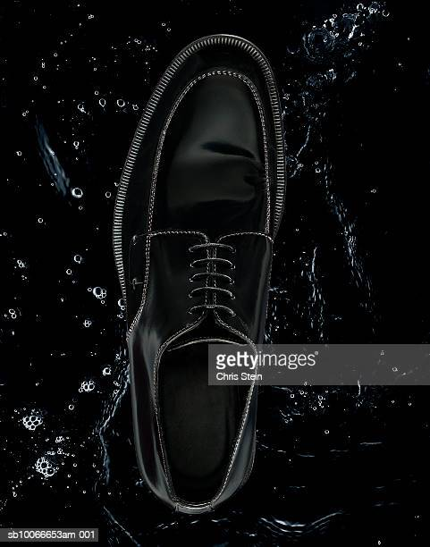 Black shoe, studio shot