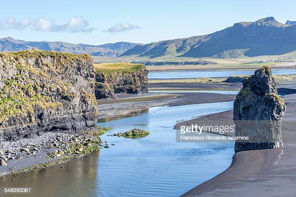 Black shore of Vik i Myrdal, Iceland