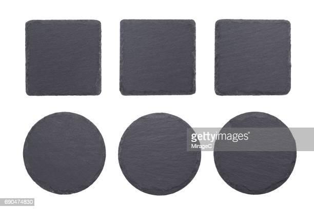Black Slate Stone Coaster