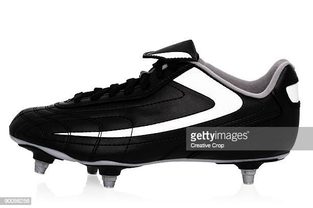 Black soccer / football boots