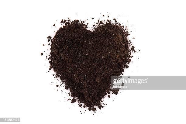 Schwarzer Boden Herz