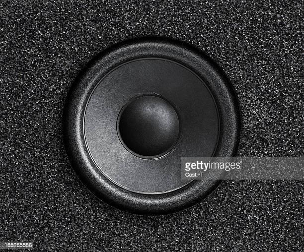 Schwarz mit Lautsprecher