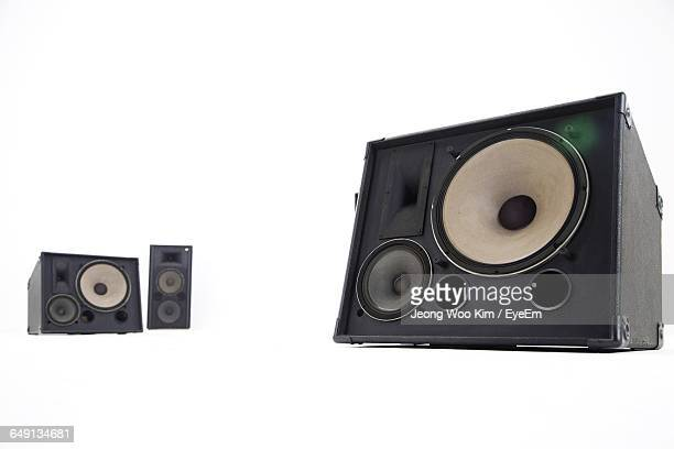 Black Speakers On White Background