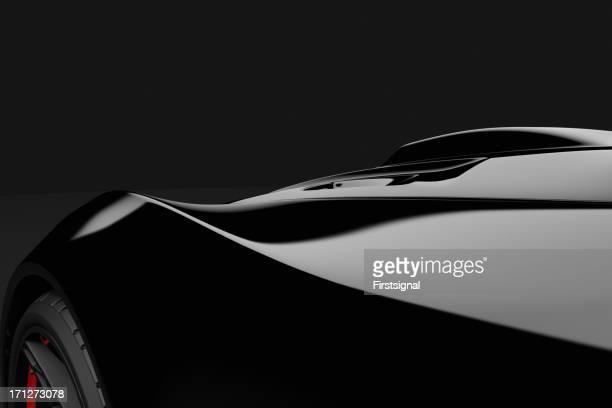 Negro sobre fondo oscuro del deporte coche