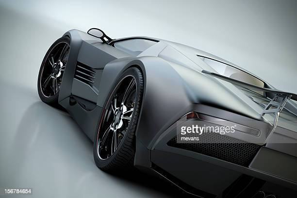 black sports car - muscle car stock photos and pictures