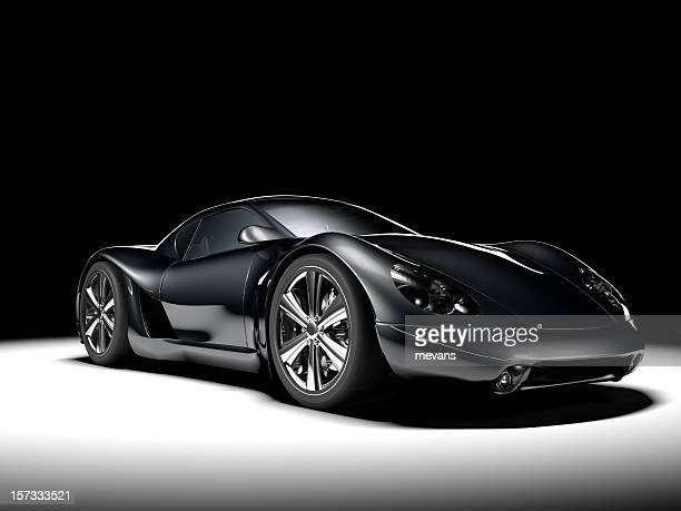 black sports car - prestige car stock pictures, royalty-free photos & images