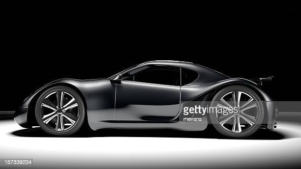 black sports car - smart car stock photos and pictures