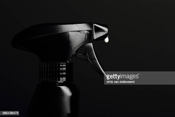 Black spray bottle
