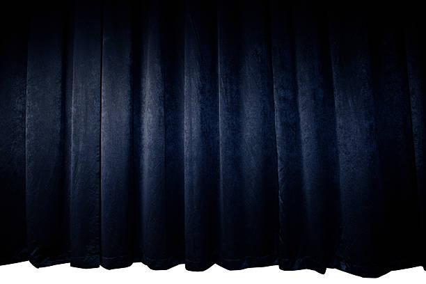 3d Render Room Black Stage Curtain