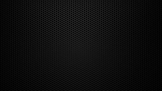 Black stainless steel hexagonal mesh background. 1044315654