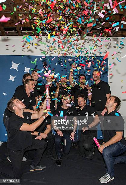 Black Sticks fire confetti cannons for social media during the New Zealand men's hockey Olympic Games team announcement at A4 Downtown on June 3 2016...