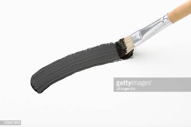 A black stroke of the brush
