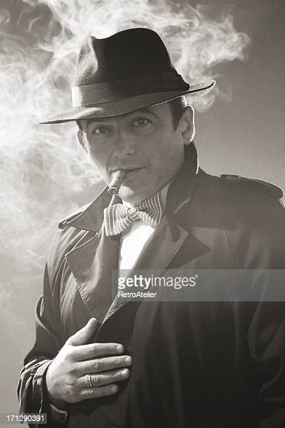 noir style.gangster - actor stockfoto's en -beelden