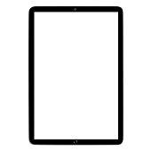 Black tablet on white