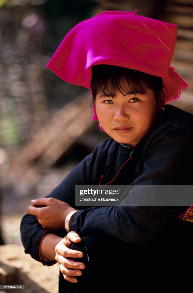 Black Tai Vietnamese Bride In Ban Ket Village Stock Photo