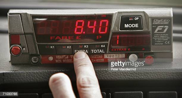 A black taxi cab's meter displays a fare on May 24 2006 in London There are over 19000 licensed taxis in London To obtain a taxi cab drivers licence...