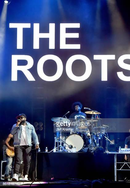 Black Thought and Questlove of The Roots perform at Camelback Stage during day 2 of the 2017 Lost Lake Festival on October 21 2017 in Phoenix Arizona