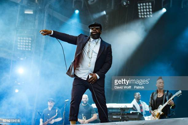Black Thought from The Roots performs during first Lollapalooza in France at Hippodrome de Longchamp on July 22 2017 in Paris France