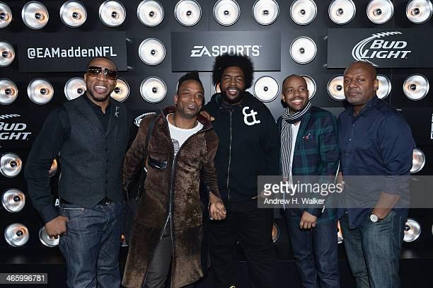 MC Black Thought guitarist Captain Kirk Douglas DJ Questlove tuba player Damon Tuba Gooding Jr Bryson and producer James Poyser of The Roots attend...