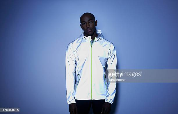 black urban man in sports clothes - athletics stock pictures, royalty-free photos & images