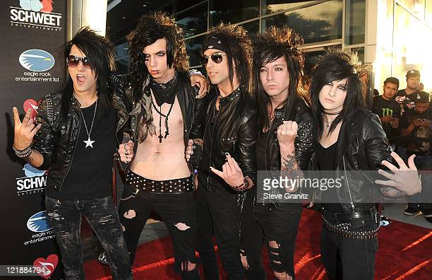Black Veil Brides arrives at the Screening Of 'God Bless Ozzy Osbourne' To Benefit The Musicares Map Fund on August 22 2011 in Hollywood California