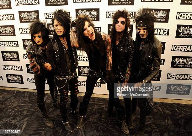 Black Veil Brides attend The Relentless Energy Drink Kerrang Awards at The Brewery on June 9 2011 in London England