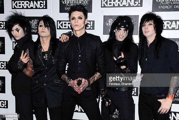 Black Veil Brides attends the Kerrang Awards at The Brewery on June 7 2012 in London England