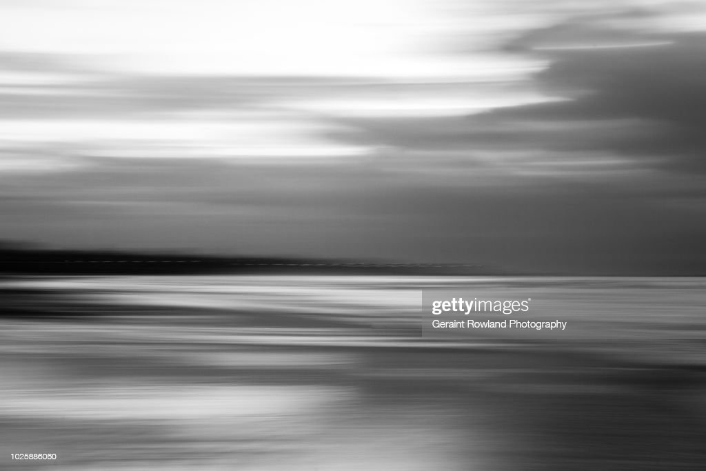 Black & White Beach Abstract, Senegal : Stock-Foto