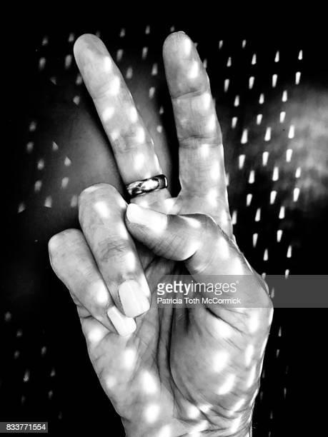 Black & White Peace Sign