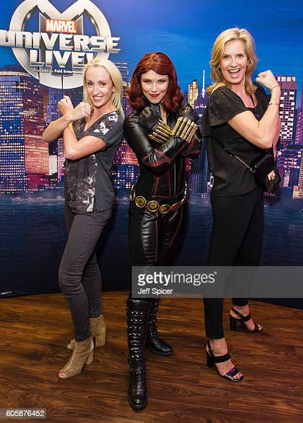Black Widow and Penny Lancaster attend the opening night of Marvel Universe LIVE At The O2 in London where they experienced an epic live...