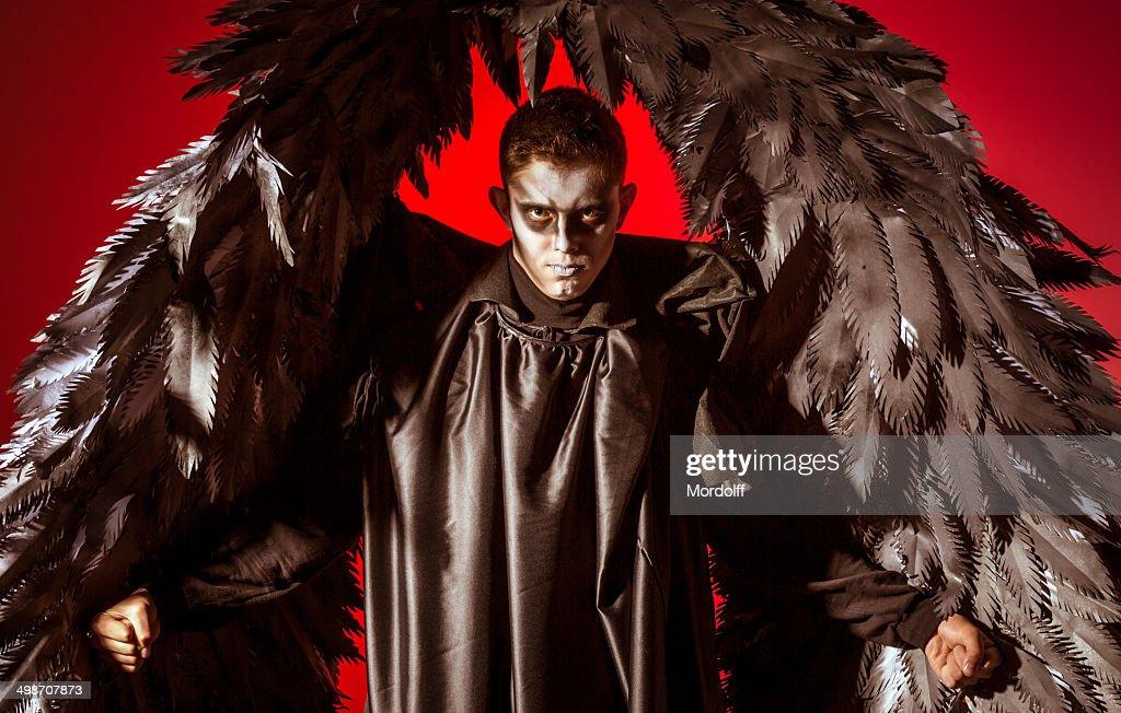 Black winged demon : Stock Photo