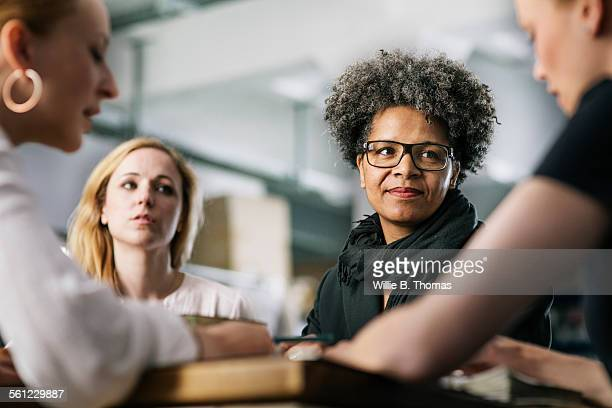 Black woman in Business meeting