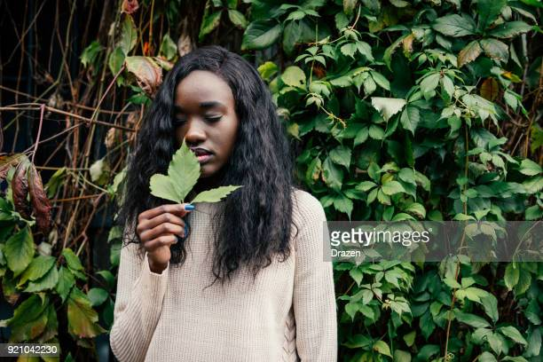 Black woman living in relationship with nature