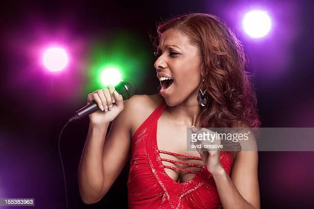 Black Woman Singer at Concert