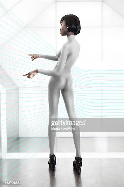 black women in spaceship with led 02 - leotard stock photos and pictures