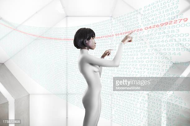 black women in spaceship with LED 03