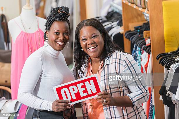 Black women, owners of successful small business