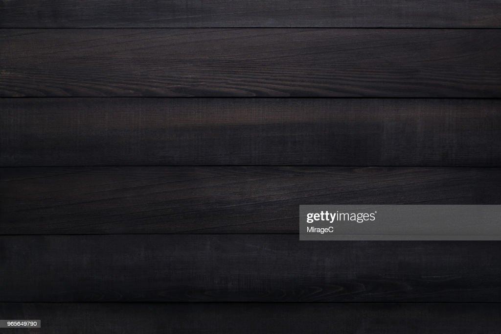 Black Wood Plank Texture : Stock Photo