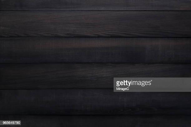 black wood plank texture - table - fotografias e filmes do acervo