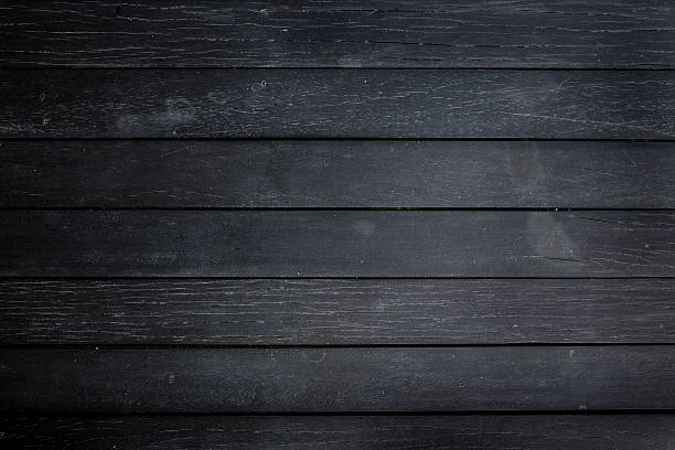 Black Wood Texture Background Rustic