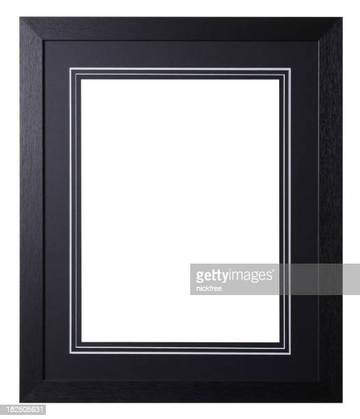 Black Wooden Frame with Mount board