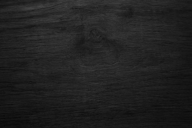 Black Wooden Texture Background Blank For Design Empty Wood Table