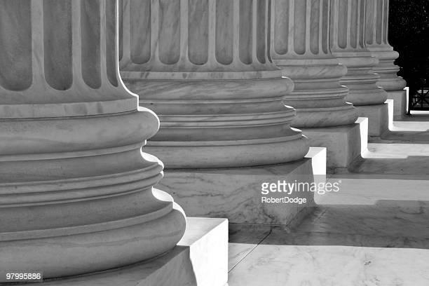 Black-and-White of Columns at U.S. Supreme Court