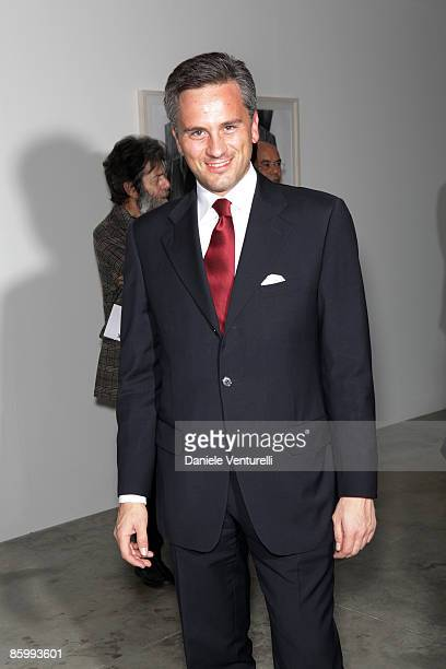 Blackberry Career Relationship Director Alberto Bevilacqua attends the Michal Helfman opening exhibition at the Cardi Black Box on April 15 2009 in...